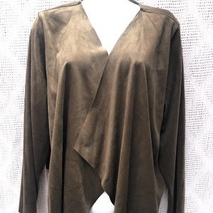 Soft Surroundings Faux Suede Bolero Wrap